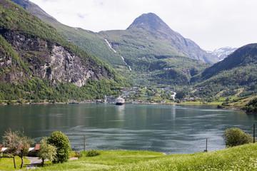 Geiranger am Geiranger Fjord