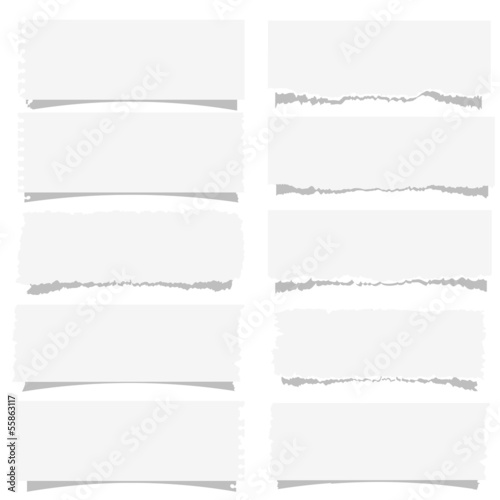 Set of various note papers