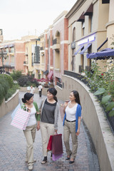 Three Women In Shopping Mall