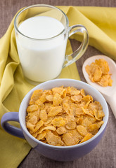 Cornflakes and milk..