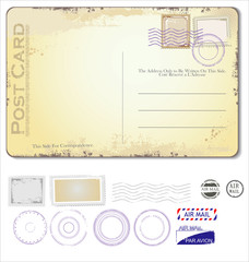 Vector vintage postcard