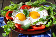 eggs with fresh vegetables on the plate