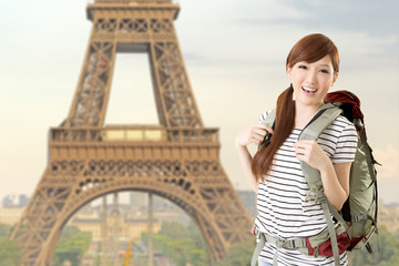 woman travel at Paris