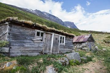 Alte Holzhütte in Norwegen