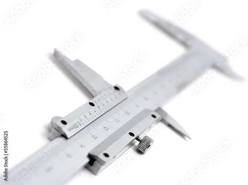 Leinwandbild Motiv Caliper on white background
