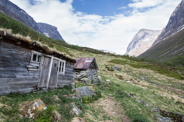 Alte Hütte in Norwegen