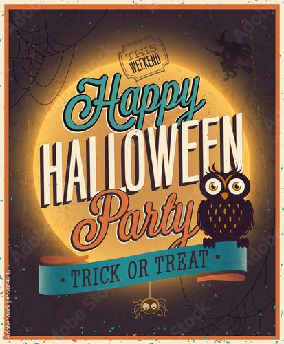 Happy Halloween Poster. Vector illustration.