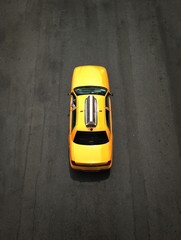 Yellow cab in NYC
