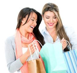 Happy shopping women