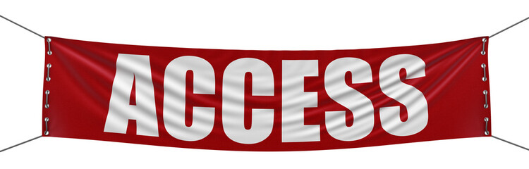 Access Banner (clipping path included)