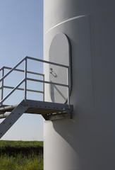 detail of wind turbine door