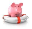 Sparschwein mit Rettungsring