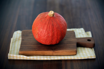 Pumpkin or winter squash hokaido type, orange for cooking