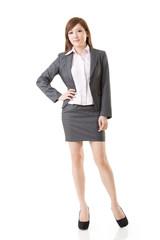 Full length portrait of Asian business woman