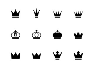 Crown icons on white background.