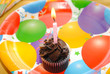 1 Chocolate Birthday Cupcake