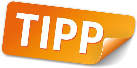 Sticker Orange Tipp