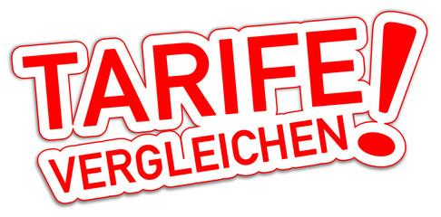 Tarife vergleichen Schild rot  #130904-svg05