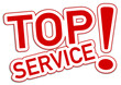 Top Service Sticker rot  #130904-svg06