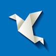Freelancer Vogel Origami Dunkell Blau