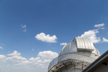 Moscow Planetarium on the background of sky,  Russia