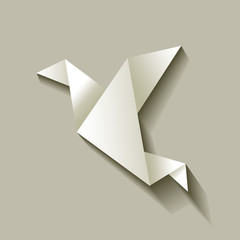 Freelancer Vogel Origami Grau