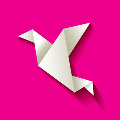 Freelancer Vogel Origami Pink