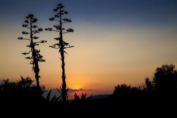 tramonto su agrigento