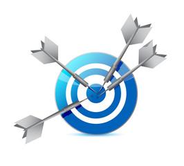 target and darts illustration design