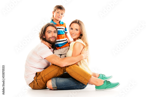 family on floor