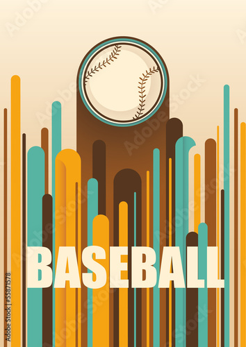 Colorful baseball poster.