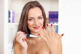 Woman manicure and nail care