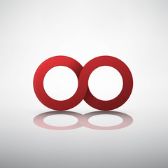 Red infinity sign