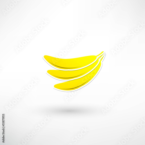 Yellow banana icon