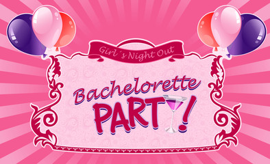 Illustrated sticker for bachelorette party.