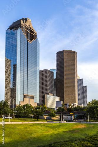 Canvas Texas cityscape of Houston