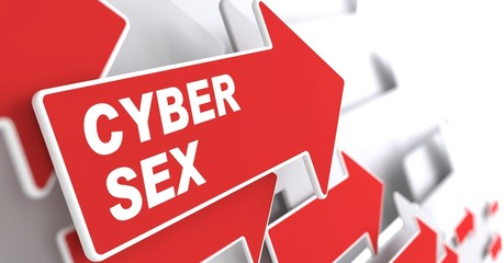 Cyber Sex Concept.