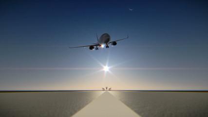 Crash on airport runway during landing