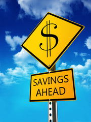 Savings ahead concept .