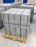 Pallet of breeze blocks