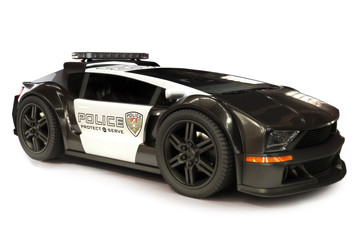 Futuristic Police car on a white Background