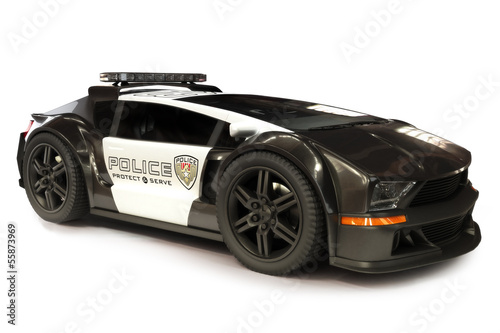 Futuristic Police car on a white Background - 55873969