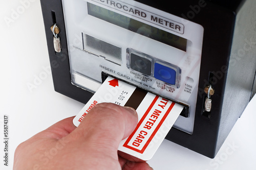 Electrical card meter