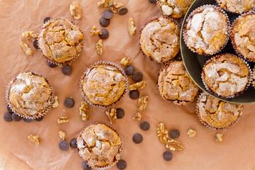pumkin muffin - overhead
