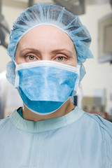 Surgeon in operating theatre