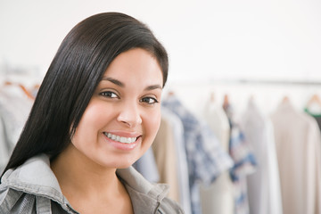 Young woman in a shop