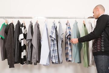 Man in a clothes shop