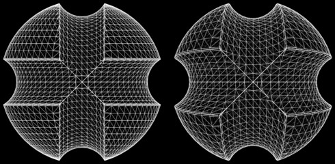 Geometric Subtraction Of Sphere And Two Torus Vector