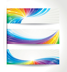 Set of celebration colorful wave backgrounds.