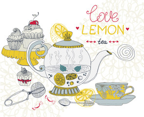 love lemon tea card